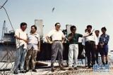 1994年 俞正声在青岛考察跨海公路建设